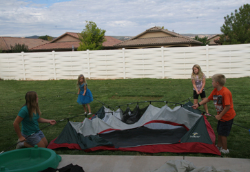 kids tent set up for tabernacles